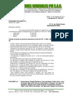 Presupuesto Tanque de Petroleo Callao