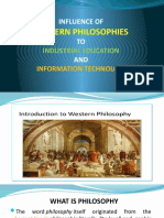INFLUENCE OF WESTERN PHILOSOPHIES
