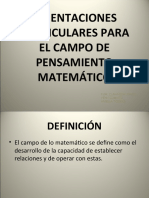 CAMPO DE PENSAMIENTO MATEMATICO