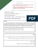 L'influence du marketing digital sur le choix d'une destination touristique (cas du touriste Algérien