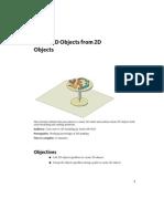 Criando Objetos 3D de Objetos 2D