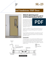 Fire Rated Sandstone FRP Door Brochure