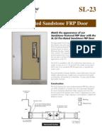 Fire Rated Sandstone FRP Door Brochure
