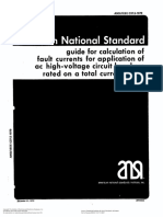 ANSI IEEE C37.5-1979 guide for calculation of fault currents for application of ac high-voltage circuit breakers rated on a total current basis