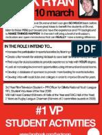 Back Ryan Student Election Manifesto