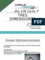 Ondas 2 y 3 dimensiones