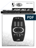 Télécommande Universelle-Codes et mode Utilisation_fr