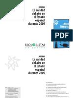 La calidad del aire en el Estado español durante 2009