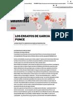 Los ensayos de García Ponce, de Christopher Domínguez Michael, Proceso, 14-11-1987