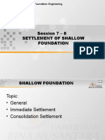 Settlement of Shallow Foundation