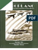 Revista Aeroplano número 02 del año 1984