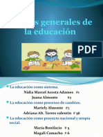 Teorías generales de la educación
