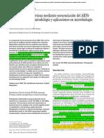 Identificación bacteriana mediante secuenciación delARNr 16S