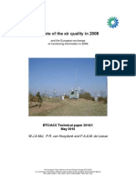 The state of the air quality in 2008 and the European exchange of monitoring information in 2009