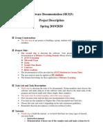 Software Documentation Project description _Spring2020