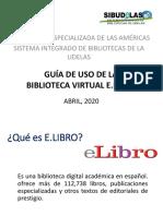 GUÍA DE USO DE E.LIBRO