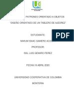 TRABAJO ajedrez DE PATRONES ORIENTADO A OBJETOS