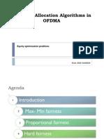 Resource Allocation Algorithms in OFDMA