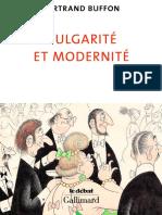 Buffon, Bertrand (2019) - Vulgarité et Modernité