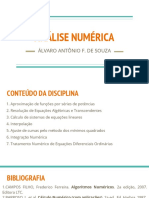 1 - Aula 1 - Análise Numérica - Introdução