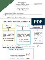 GUIDE PALABRAS AGUDAS GRAVES Y ESDRUJULAS