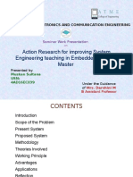 Action Research for Improving System Engineering Teaching in Embedded Systems Master