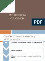 ESTUDIO DE LA INTELIGENCIA