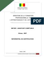REFERRENTIEL DE CERTFICATION BEP ASSISTANT COMPTABLE