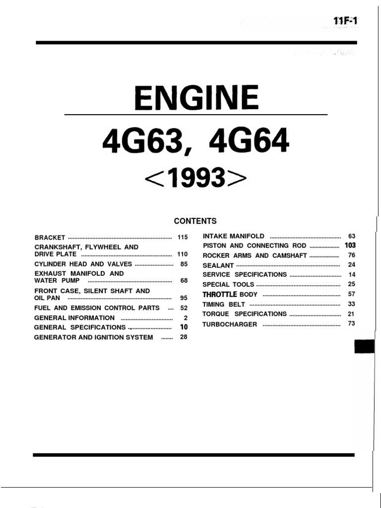 Mitsubishi 4G63 & 4G64 Engine | Internal Combustion Engine