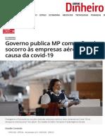 Governo publica MP com ações de socorro às empresas aéreas por causa da covid-19 - ISTOÉ DINHEIRO