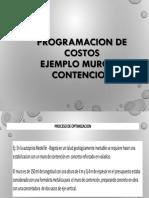 8.1 PROGRAMACION DE COSTOS EJEMPLO M DE C