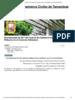 Normatividad de SCT del Control de Calidad en Acero de Refuerzo en el Concreto Hidráulico