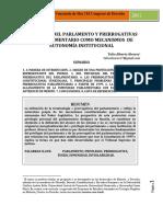 T. Alvarez - Privilegio del Parlamento y Prerrogativas del Parlamentario como Mecanismo de Autonomía Institucional.pdf