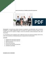 GUIA DE ENTREVISTA DE SELECCIÓNn