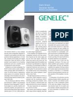 Genelec 6010A Data Sheet