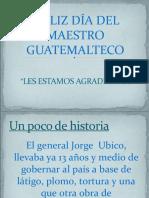 Día del maestro Guatemalteco