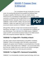 Choose 10GBASE-T Copper Over SFP+ for 10G Ethernet | FS Community