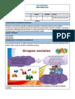 GUIA # 1  SOCIALES 1°