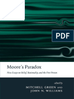 Mitchell S. Green, John N. Williams - Moore's Paradox_ New Essays on Belief, Rationality, and the First Person (2007)