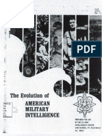Evolution of Us Military Intelligence 1973