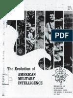 Evolution of Us Military Intelligence 1973