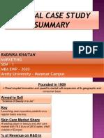 L'Oreal Case Study Report - MKTG Assingment - 1st Sem, MBA EWP 2020 - Radhika