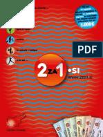 """2za1.si, jesen 2010, zahodna Slovenija - knjiga kuponov """"dva za ena"""""""