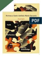 Novena de Santo Antonio Maria Zaccaria  -in Portuguese
