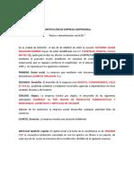 Modelo de estatutos Empresa Unipersonal DILIGENCIADO (1)