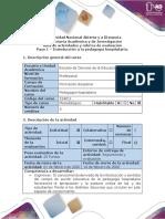 Guía de actividades y rúbrica de evaluación - Paso 1. Introducción a la pedagogía hospitalaria.pdf