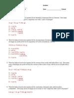 Practice KEY - Stoichiometry PAP 2019-2020-4