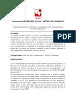 3. PREPARACION DE MEDIOS DE CULTIVO Y METODOS DE AISLAMIENTO  (1)