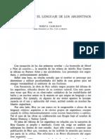 Bioy Casares y El Lenguaje de Los Argentinos