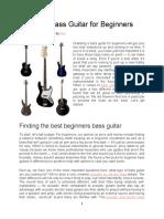 Best Bass Guitars for Beginners